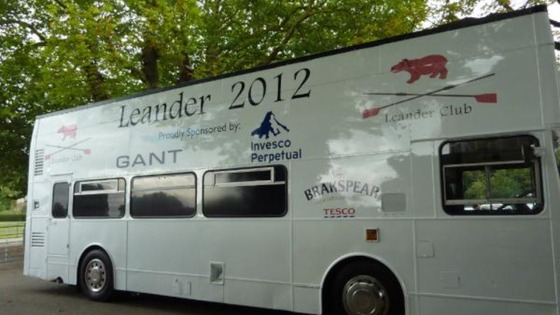 The bus is ready for the Olympic street party