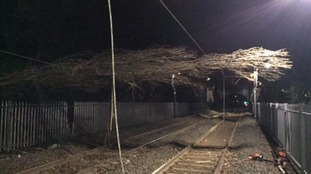 Storm damage affects train services in the West Midlands