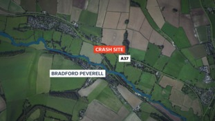 The accident happened near Bradford Peverell on the A37 late on Tuesday night.