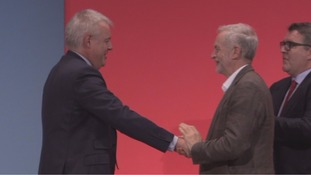 Carwyn Jones and Jeremy Corbyn at this year's Labour conference