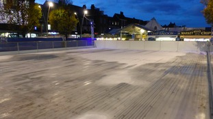 The ice rink will open on Friday.