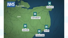 East Kent Hospitals NHS Trust map