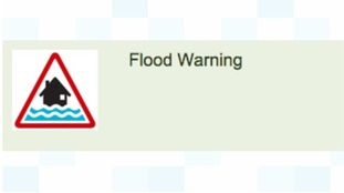 Flood warning graphic