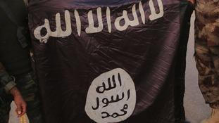 An Islamic State flag.