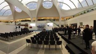 The seats are in place for the officially opening later this morning