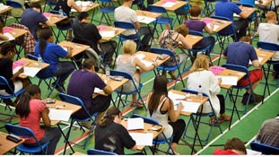 Students sitting their GCSE exam
