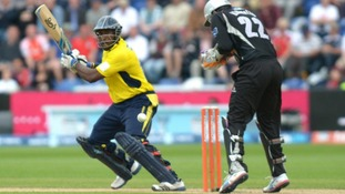 Hampshire's Michael Carberry is in action