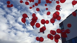 Balloons released in tribute to Paris terror attacks victims