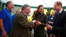The royal couple meet a member of Men's Shed.
