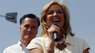 Ann Romney at a campaign rally in Michigan
