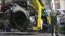 Land Rover's on the production line in the West Midlands