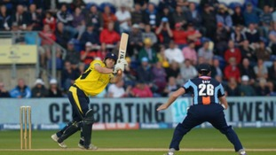 Hampshire's James Adams in action during the Friends Life T20 Final match