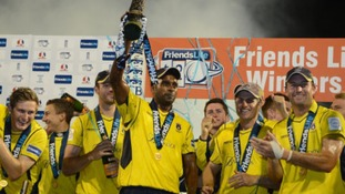 Hampshire celebrate winning the T20 trophy