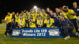 Hampshire Royals the winners of the T20 trophy