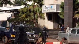 Security officials stormed the building where gunmen were holding hostages