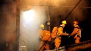 The blaze broke out at a pit in China