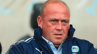 Coventry City's manager Andy Thorn during the npower Football League One match against Bury at the Ricoh Arena,
