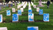 Appeal after war graves defaced in west London