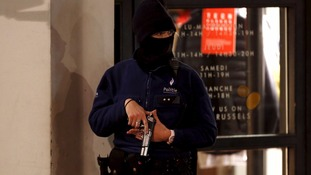 There were a number of arrests and raids across Brussels on Sunday.