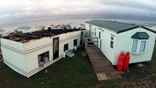 Static caravan blows upside down in Hartlepool