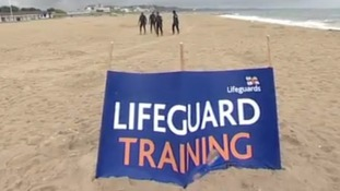 RNLI rescue on Dorset beach