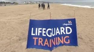 Lifeguards train in Dorset