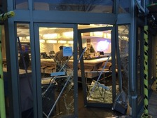 Investigation after car drives through M&S doors