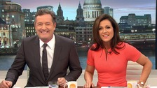 Piers Morgan alongside fellow Good Morning Britain host Susanna Reid.