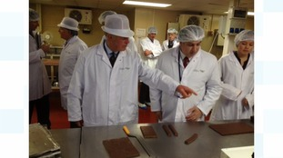 Prince Charles visits the chocolate factory