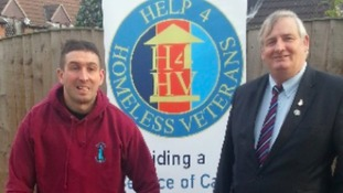 Ben Parkinson with charity's new CEO Steve Bentham-Bates
