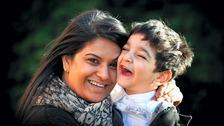 Urrvashi Singh with her son Dilraj Singh