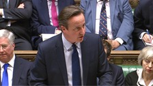 David Cameron at Prime Minister's Question Time earlier this month