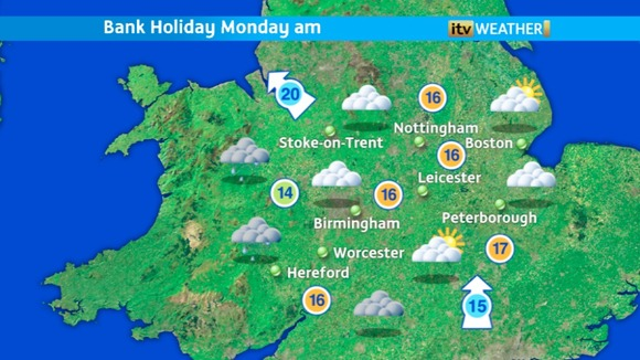 Monday morning weather for ITV Central