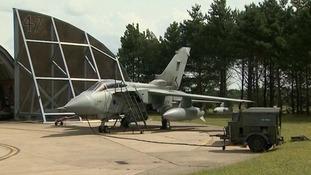 A Tornado aircraft based at RAF Marham in west Norfolk.