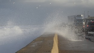 There were high seas and waves crashing over the sea wall at Bacton and Walcott over the weekend.