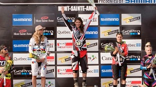 Manon Carpenter on podium