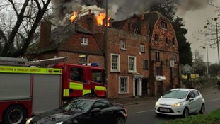 Historic 17th Century mill ravaged by fire