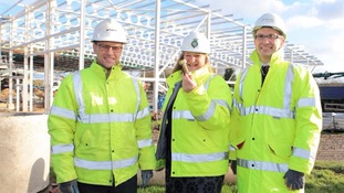 Nick Todd, Business Unit Manager Clugston Construction, Heather Parry Deputy Chief Executive of the Yorkshire Agricultural Society, and Adrian Taylor, Director