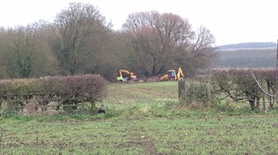 Source of the water leak has now been pinpointed to this field on the outskirts of Pocklington