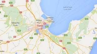 The bus was attacked in the Tunisian capital of Tunis.