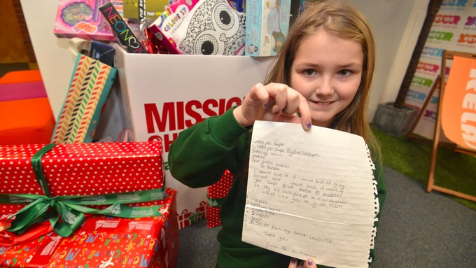 Nine-year-old girl asks Santa to donate her Christmas presents ...