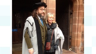Hairy Biker Dave Myers becomes Honorary Fellow of University of Cumbria
