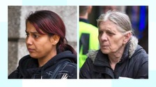 Jessica (left) and Angela Price have been jailed for eight years each.