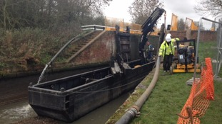 Work underway to repair locks along Northamptonshire canal