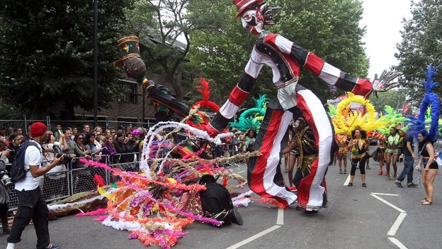 Brightly-dressed performers will celebrate Bank Holiday Monday.