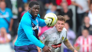 James Alabi will spend the next month at Grimsby Town.