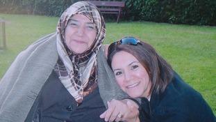 Abeer Jones with her mother