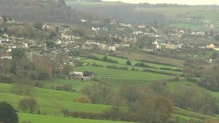 Gloucestershire author Laurie Lee was inspired by the landscape of Slad Valley.