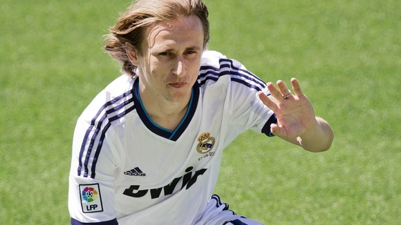 Real Madrid&#x27;s newest signing Luka Modric.