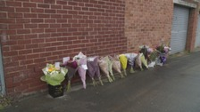 Flower tributes in Sunderland